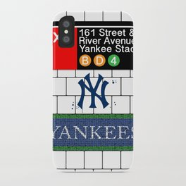NYC Yankees Subway iPhone Case