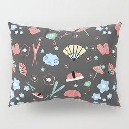 Oriental pattern_black_ version Pillow Sham