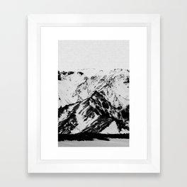 Minimalist Mountains Framed Art Print