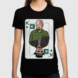Breaking Bad: Walter White vs Heisenberg on a poker card T-shirt