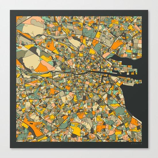 Dublin Map Canvas Print