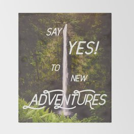 Say Yes Throw Blanket