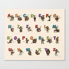 Animals & Instruments ABCs Canvas Print