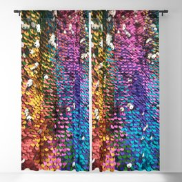 Multicolored Sequins Blackout Curtain