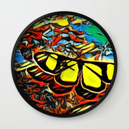 Butterfly, colorful butterfly, watercolor, color splash butterfly Wall Clock
