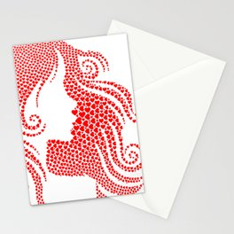 Woman hearts Stationery Cards