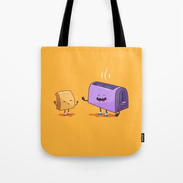 Best friends (Bread and toaster. Character set.) Tote Bag