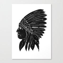 Indian Chief / Black Edition Canvas Print