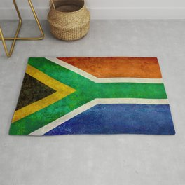 National flag of the Republic of South Africa - Banner version Rug