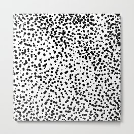 Retro Themed Dot Pattern Design Metal Print