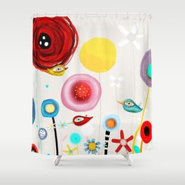 Invent new feelings everyday Shower Curtain