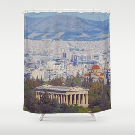 Ancient Cityscape Shower Curtain