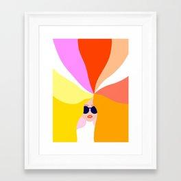 Girl Power - Rainbow Hair #girlpower Framed Art Print