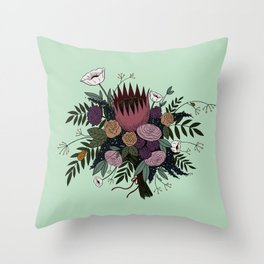 Beetles and Flowers Throw Pillow