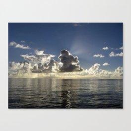 CLOUD PLAY AT SEA Canvas Print