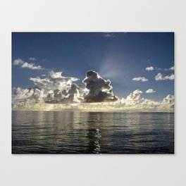 CLOUD PLAY AT SEA Canvas Print