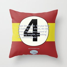 SRC Preparations. Racecar Rebels. 4 Quote Throw Pillow