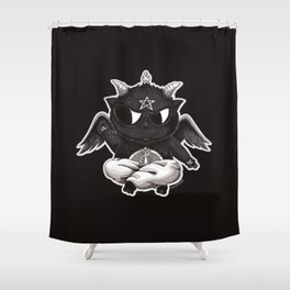 Black Cathomet Shower Curtain