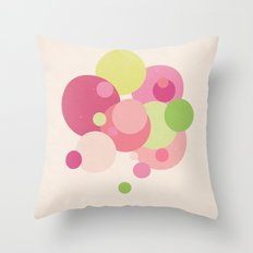 Balloons//Five Throw Pillow
