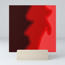 Yeah-red Mini Art Print