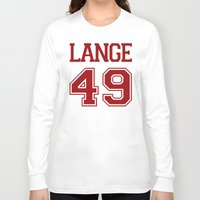 jessica lange Long Sleeve T-shirts featuring Jessica Lange Varsity by NameGame