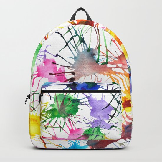 Watercolor Splashes Backpack