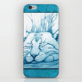 Bobcat nap iPhone Skin