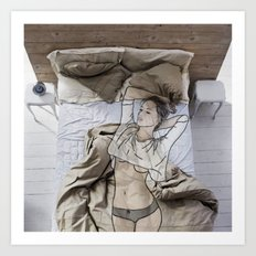 A day in bed Art Print