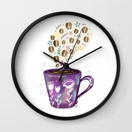 Smell of coffee Wall Clock