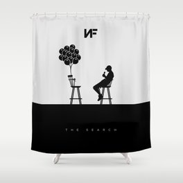NF Talking to His Burdens Shower Curtain