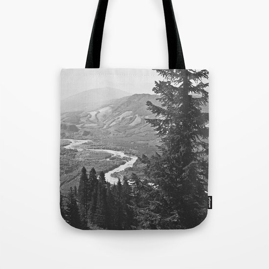River through the Mountains Tote Bag