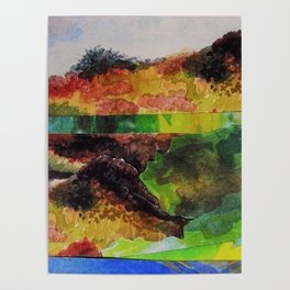 Colorful Dunes Poster