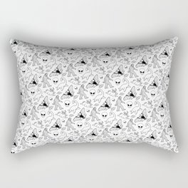 Cryptid Pattern: Ink Lines Rectangular Pillow