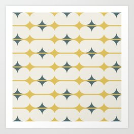Capsules in Ivory and Gold Art Print