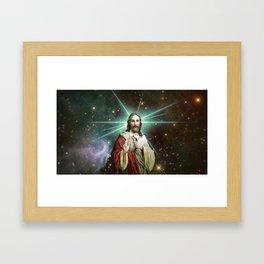 Tambourine Jesus Framed Art Print