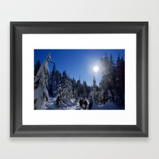 Coal Harbour Vancouver New Years Eve 2017 Framed Art Print
