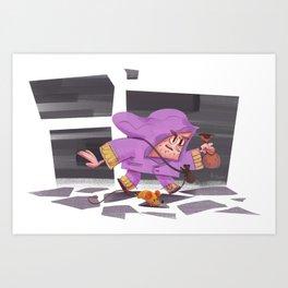 Sneaky roygue Art Print