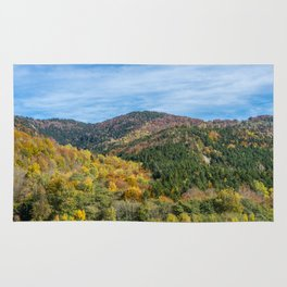 Colorful French mountains Rug