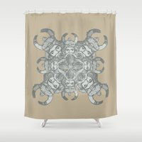 demon Shower Curtains featuring Demon by Sandeep Barot
