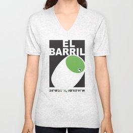 El Barril Green Unisex V-Neck