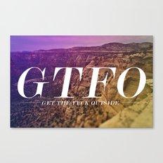 GTFO Canvas Print