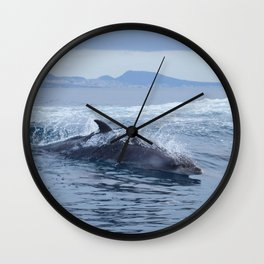 Dolphin: love for waves, love for life Wall Clock
