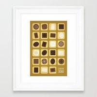 forrest gump Framed Art Prints featuring Forrest Gump by Logophilia Design