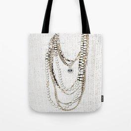 vintage white gold necklace Tote Bag