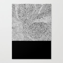 Dots and Black Canvas Print