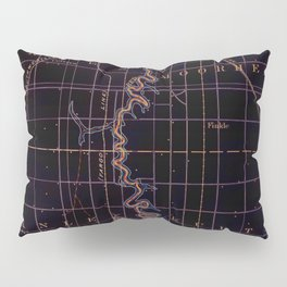 Fargo old map year 1895, united states vintage maps Pillow Sham