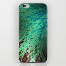 Run Off - Teal and Brown - Fractal Art iPhone Skin