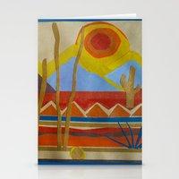 desert Stationery Cards featuring Desert by Abundance