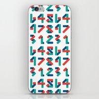 number iPhone & iPod Skins featuring Number by Steven Toang