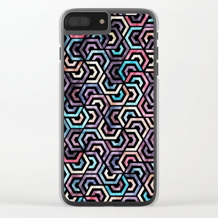 Seamless Colorful Geometric Pattern XXII Clear iPhone Case